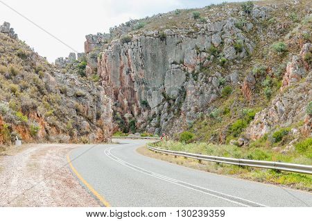 The Uniondale Poort Pass between Avontuur and Uniondale in the Western Cape Province of South Africa