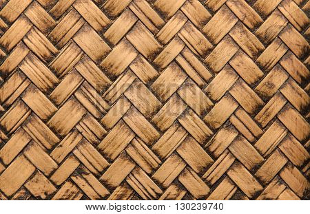 Handcraft Bamboo Weave Texture Abstract For Background