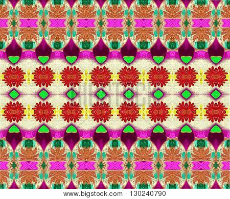 Oriental patterns - the language of the soul The picture shows the oriental patterns mainly red, green and yellow colors.