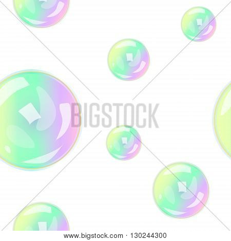 seamless pattern with soap bubbles vector illustration