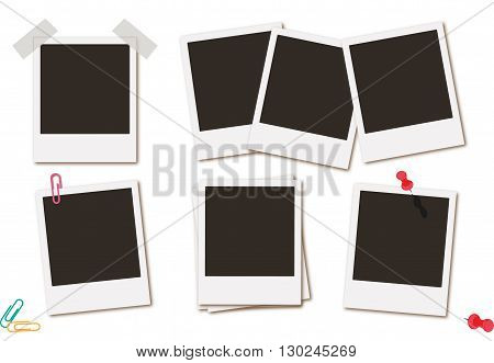 Photo frames retro instant picture black cards  illustration