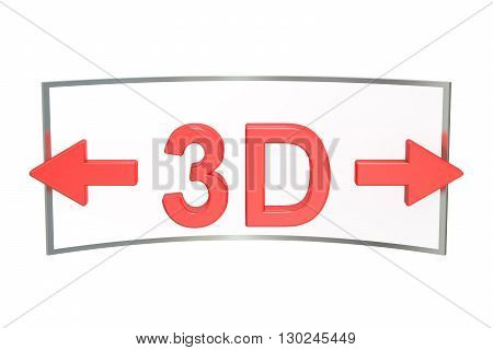 3D Virtual Tour concept 3D rendering isolated on white background