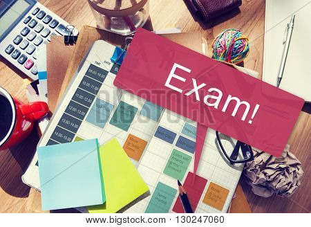 Exam Schedule Education Planning Remember Concept