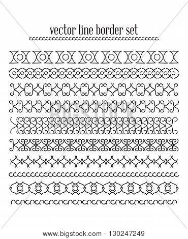 Vector Lines, Border Divides Set