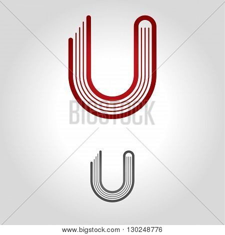 u logo icon and shape vector illustration