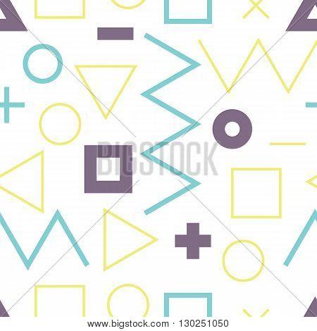 Universal Vector Lineal Geometric Seamless Pattern In Minimalist