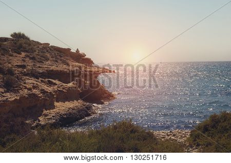 Sunset from the cove mediterranean - Spain