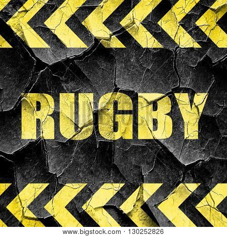 rugby, black and yellow rough hazard stripes