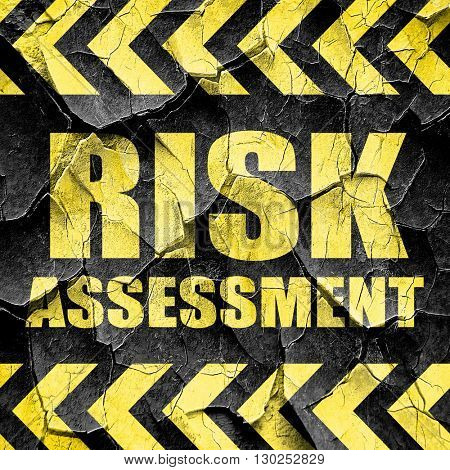risk assessment, black and yellow rough hazard stripes