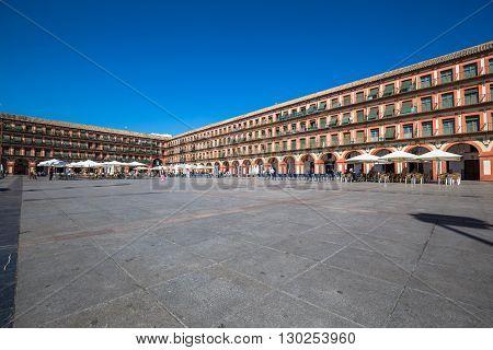 Cordoba Spain-March 12 2015:Plaza de la Corredera - Corredera Square in Cordoba Andalusia Spain