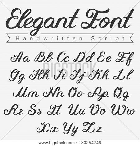 Elegant Handwritten Calligraphy Script Font design vector