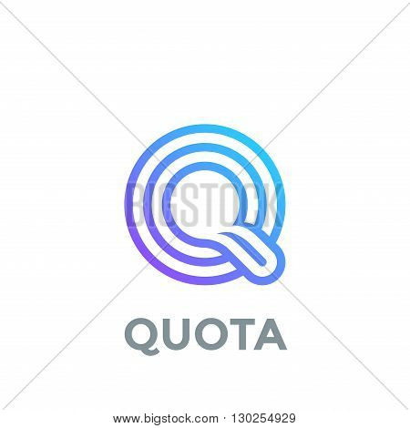 Letter Q Logo design vector template. Font Lines Logotype