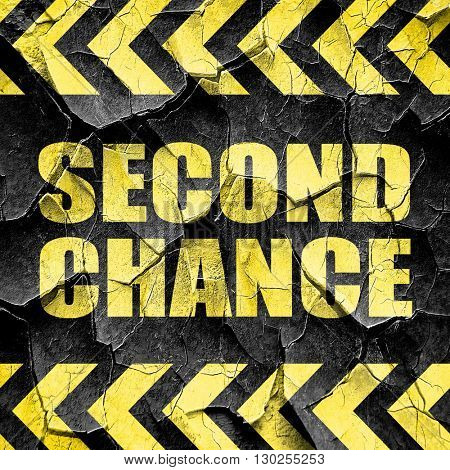 second chance, black and yellow rough hazard stripes