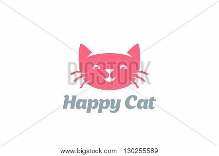 Cat abstract Logo design vector. Home pet shop Veterinary clinic