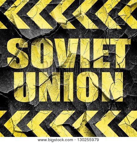 soviet union, black and yellow rough hazard stripes