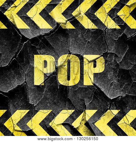 pop music, black and yellow rough hazard stripes
