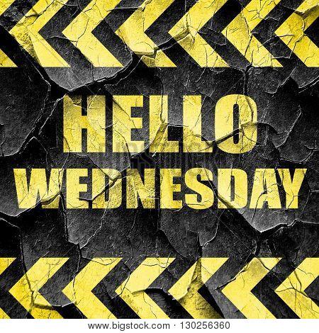 hello wednesday, black and yellow rough hazard stripes