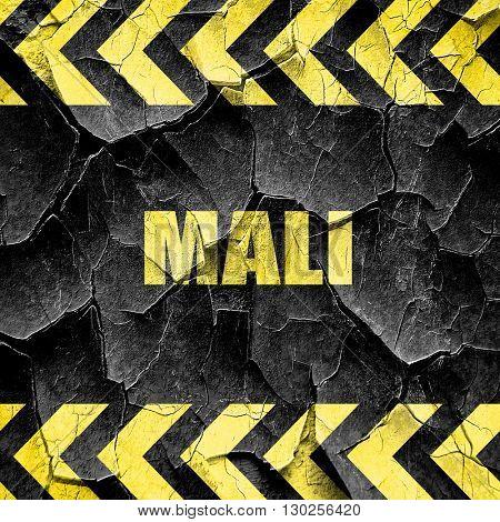 Mali, black and yellow rough hazard stripes