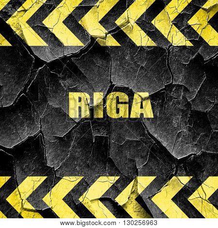 riga, black and yellow rough hazard stripes