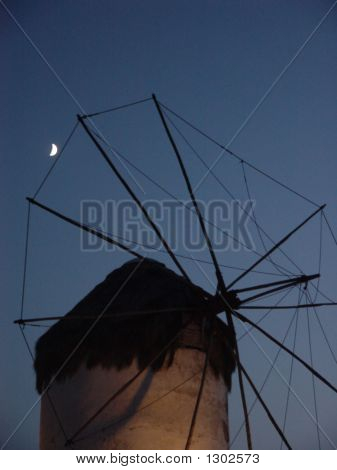 The Windmill In Moonlight