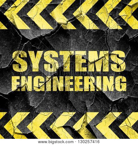 systems engineering, black and yellow rough hazard stripes