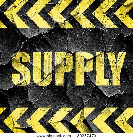 supply, black and yellow rough hazard stripes