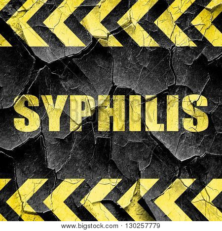 syphilis, black and yellow rough hazard stripes