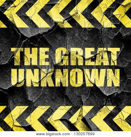 the great unknown, black and yellow rough hazard stripes