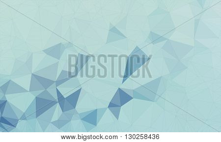 Low poly background design in geometric pattern. polygon wallpaper in origami style. polygonal texture illustration in color light blue and medium blue.