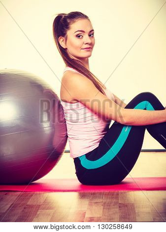 Girl With Training Equipment.