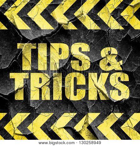 tips , black and yellow rough hazard stripes