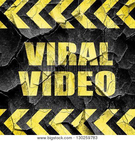 viral video, black and yellow rough hazard stripes