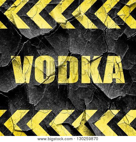 vodka, black and yellow rough hazard stripes