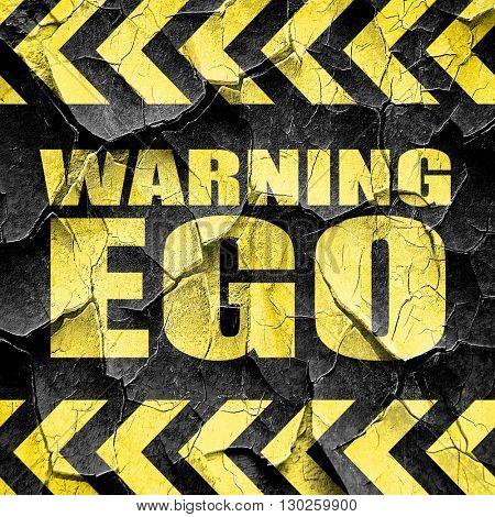 warning ego, black and yellow rough hazard stripes