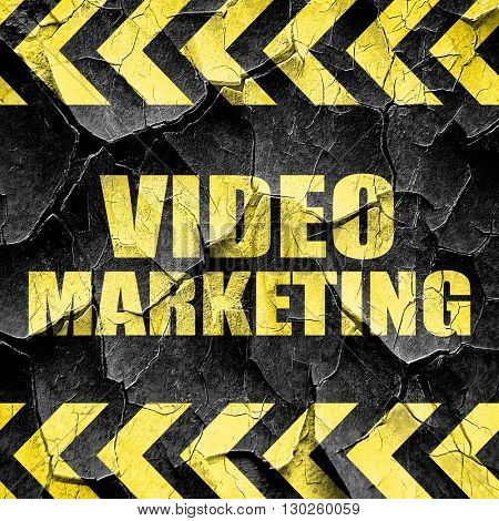 video marketing, black and yellow rough hazard stripes