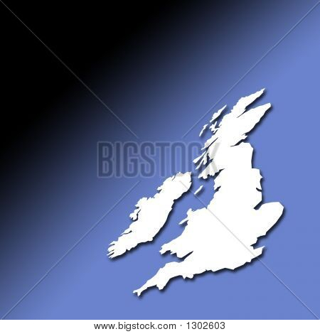 Uk And Ireland Outline Map