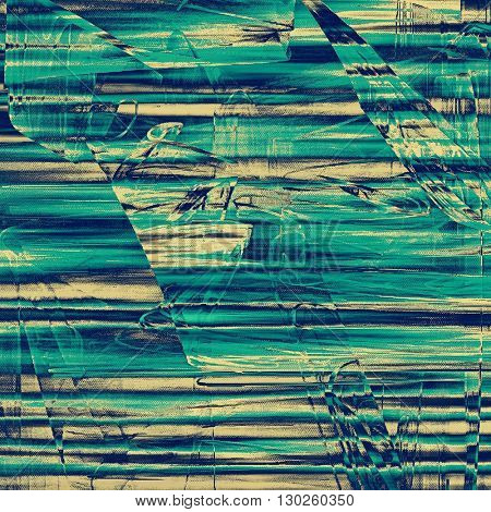 Old grungy stylish composition, vintage texture with different color patterns: yellow (beige); blue; gray; cyan