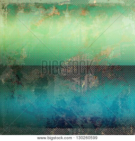 Vintage aged texture, old scratched background. With different color patterns: yellow (beige); brown; green; blue; gray; cyan
