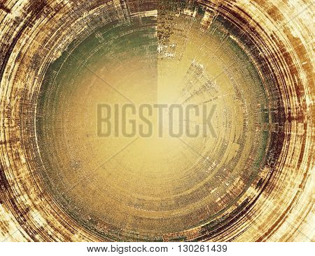 Spherical retro design composition, grunge background or textured backdrop. With different color patterns: yellow (beige); brown; green; gray