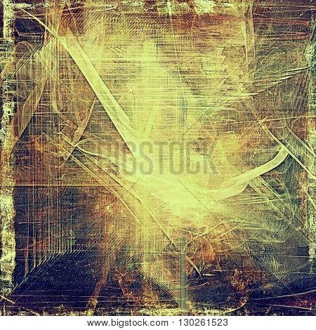 Retro texture used as abstract grunge background. Shabby backdrop with different color patterns: yellow (beige); brown; green; blue; gray; purple (violet)