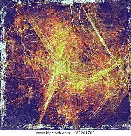 Old school background or texture with vintage style grunge elements and different color patterns: yellow (beige); brown; blue; red (orange); purple (violet); pink