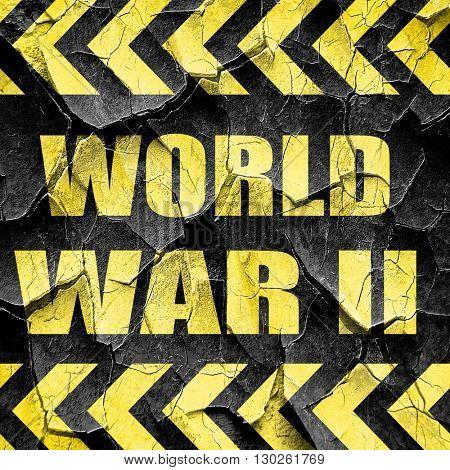 World war 2 background, black and yellow rough hazard stripes