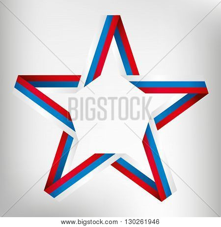 Vector Star of color band. Russian flag