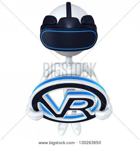 Virtual Reality VR Glasses Headset Goggles Device 3D Illustration