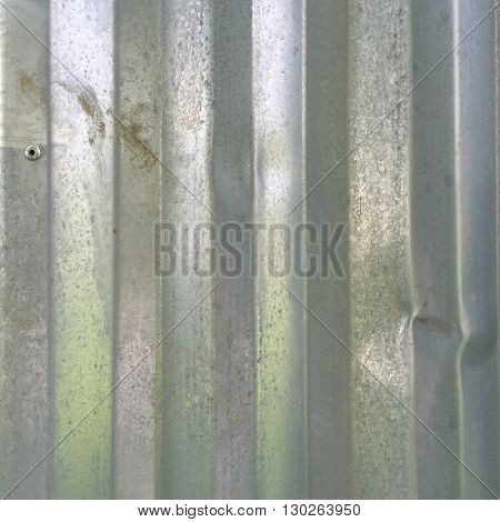 Galvanized metal fence