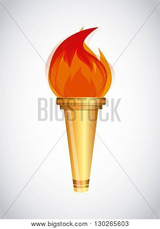Olympic torch design, vector illustration eps10 graphic