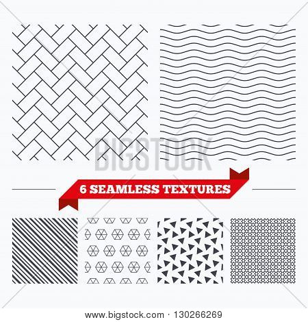 Diagonal lines, waves and geometry design. Cobbles grid texture. Stripped geometric seamless pattern. Modern repeating stylish texture. Material patterns.