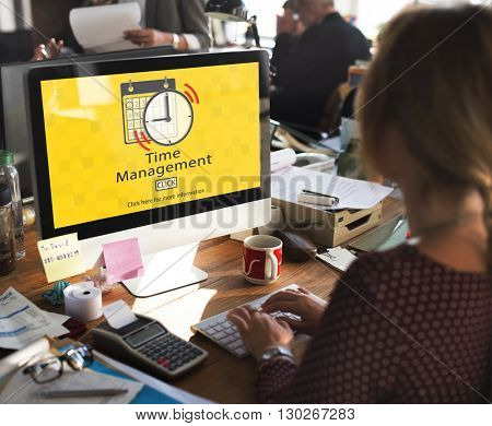 Time Management Schedule Notes Important Task Concept