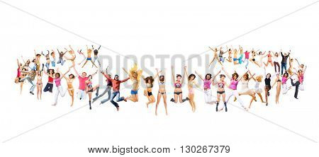 Success Concept Jumping Together