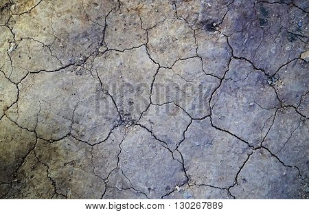 cracked dry ground due to drought in Australia
